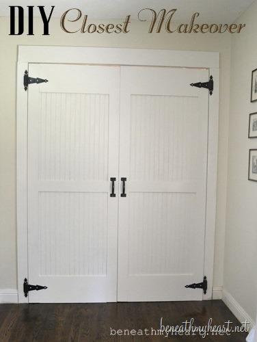 Elegant Bedroom Closet Door Makeover